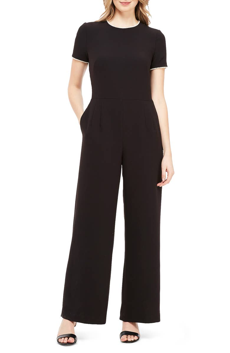 Gal Meets Glam Pearl Trim Jumpsuit
