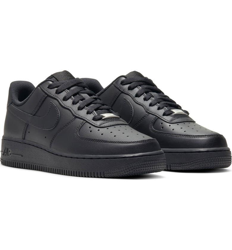 NIKE Air Force 1 Sneaker, Main, color, BLACK/ BLACK/ BLACK