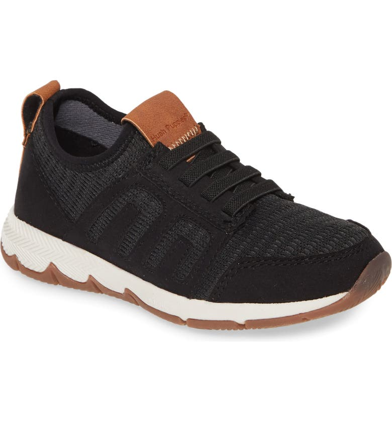 HUSH PUPPIES<SUP>®</SUP> Zeke Field Sneaker, Main, color, BLACK