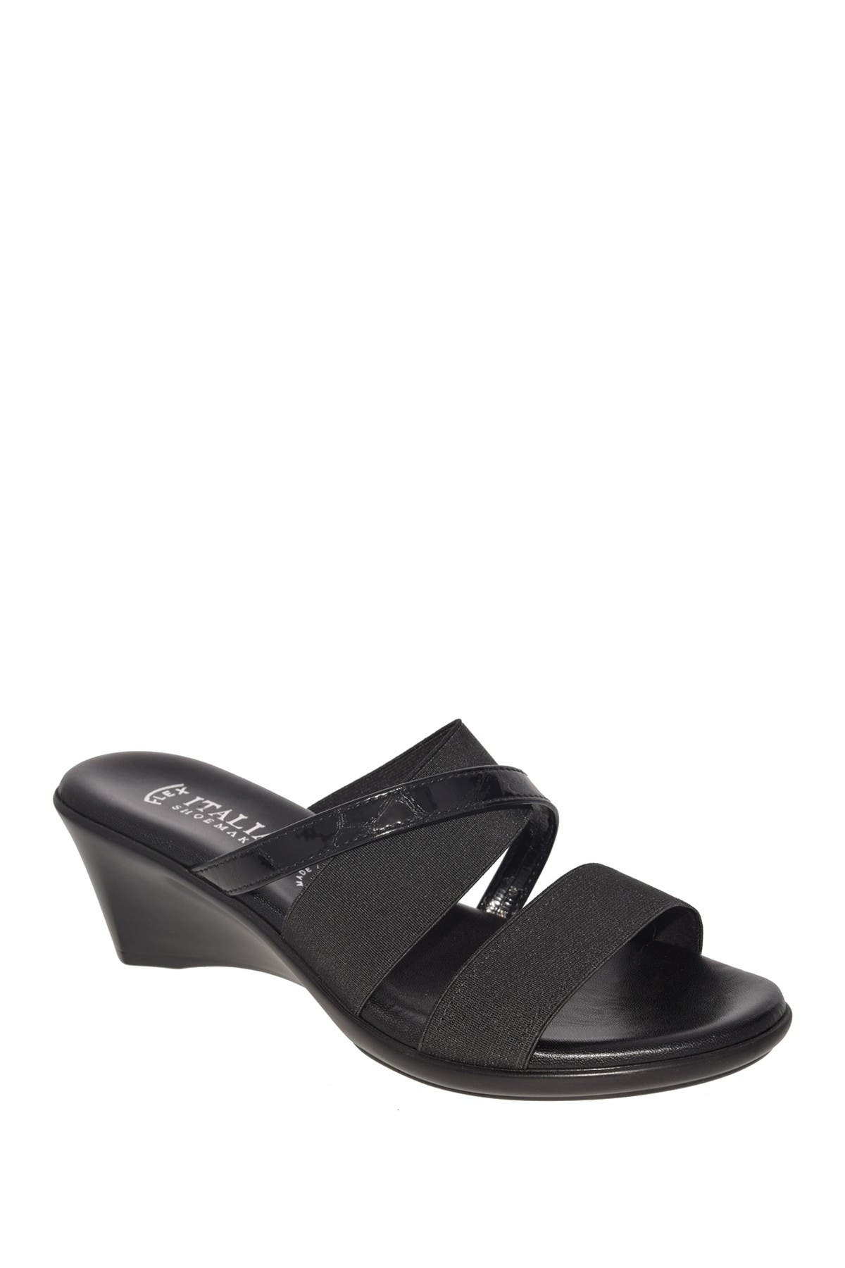 Image of Italian Shoemakers Lorel Strappy Wedge Sandal