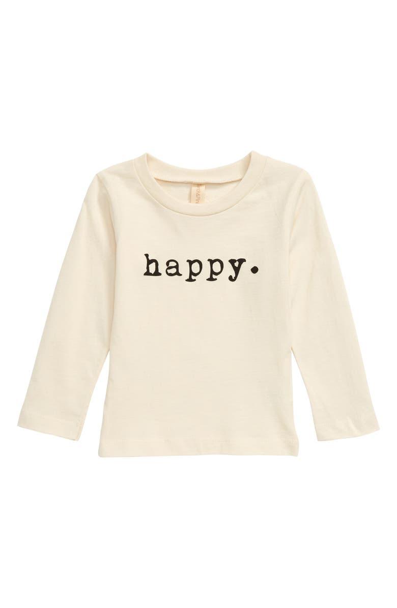 TENTH & PINE Happy Organic Cotton T-Shirt, Main, color, NATURAL