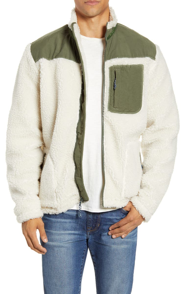 FAHERTY Faux Fur Front Zip Jacket, Main, color, CREAM