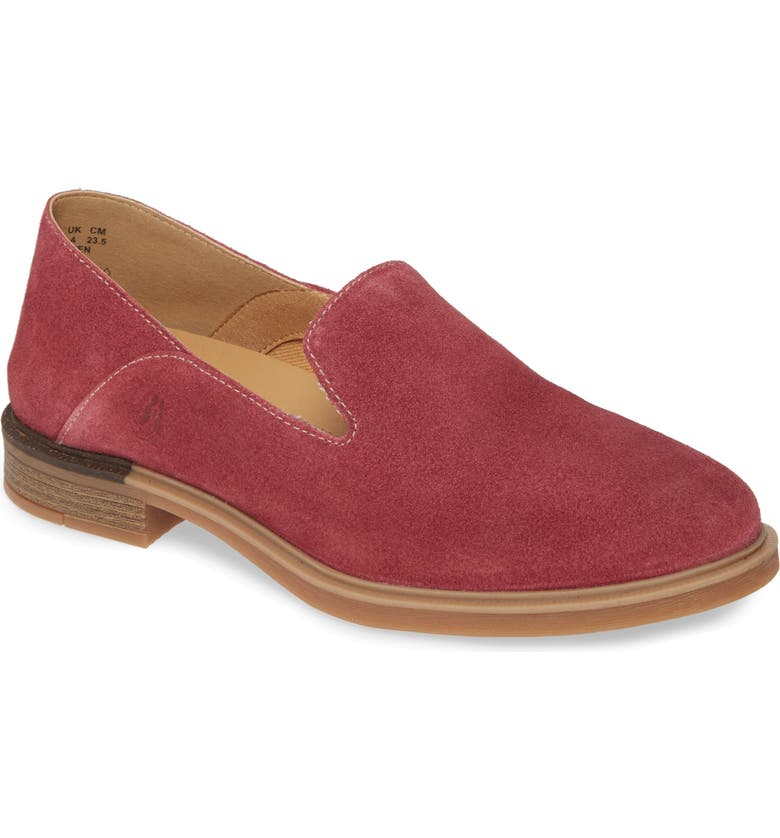 HUSH PUPPIES<SUP>®</SUP> Bailey Loafer, Main, color, BEAUJOLAIS SUEDE