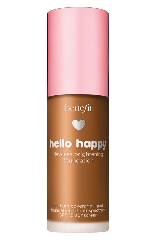 Benefit Cosmetics Benefit Hello Happy Flawless Brightening Foundation Spf 15, 1 oz In Shade 9- Deep Nrutral