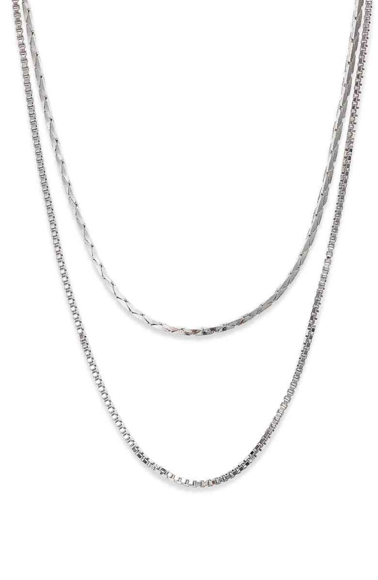 SOMETHING NAVY 2-in-1 Chain Necklace, Main, color, 040