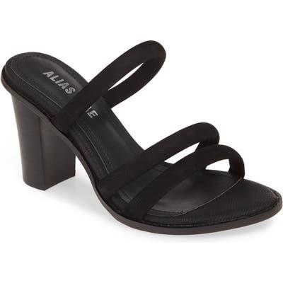 Alias Mae Evita Strappy Slide Sandal, Black