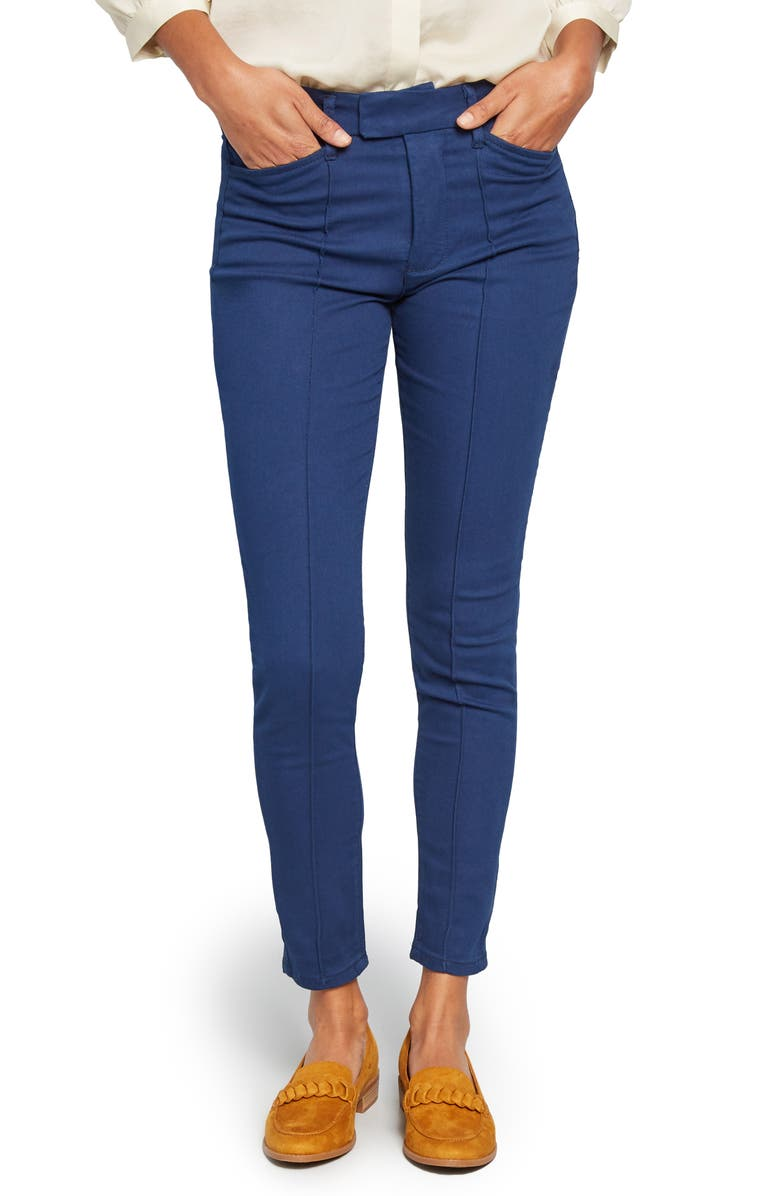 MODCLOTH Pocketed Professional Pants, Main, color, NAVY