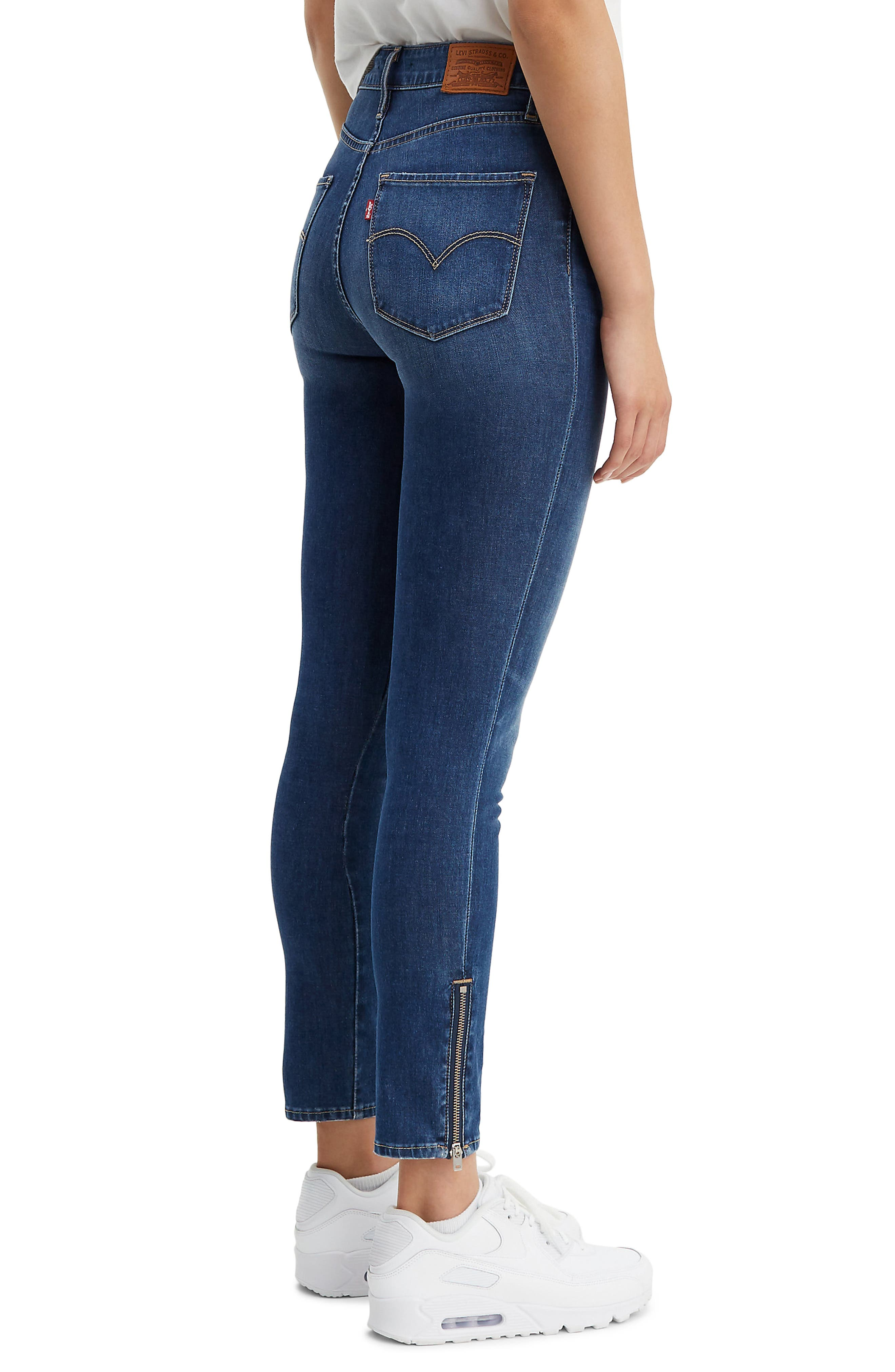 ,                             721<sup>™</sup> High Waist Ankle Zip Skinny Jeans,                             Alternate thumbnail 4, color,                             UNDER THE WIRE