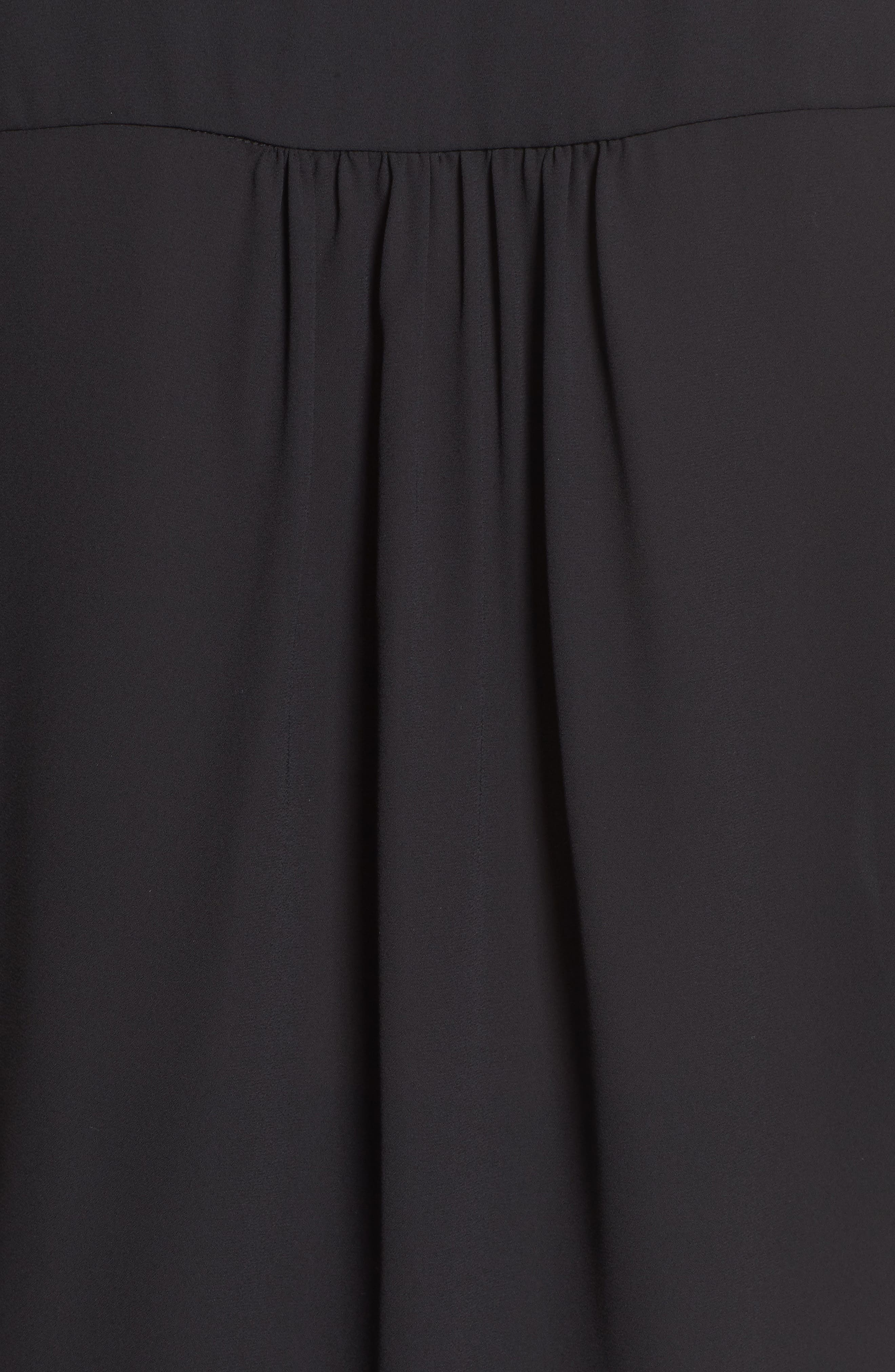 ,                             Roll-Tab Sleeve Tunic,                             Alternate thumbnail 6, color,                             BLACK