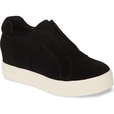Jslides Starr Platform Slip-On Sneaker, Black