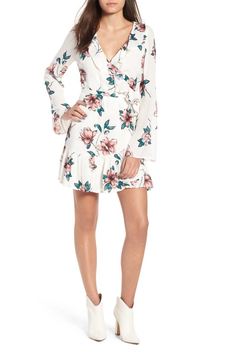 BILLABONG Love and War Ruffle Trim Minidress, Main, color, 900
