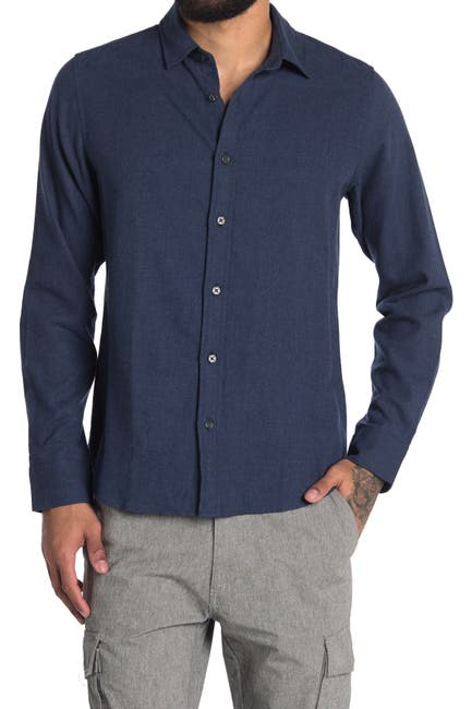 Image of Slate & Stone Solid Regular Fit Flannel Shirt