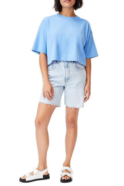 Image of Cotton On Cropped Boyfriend T-Shirt
