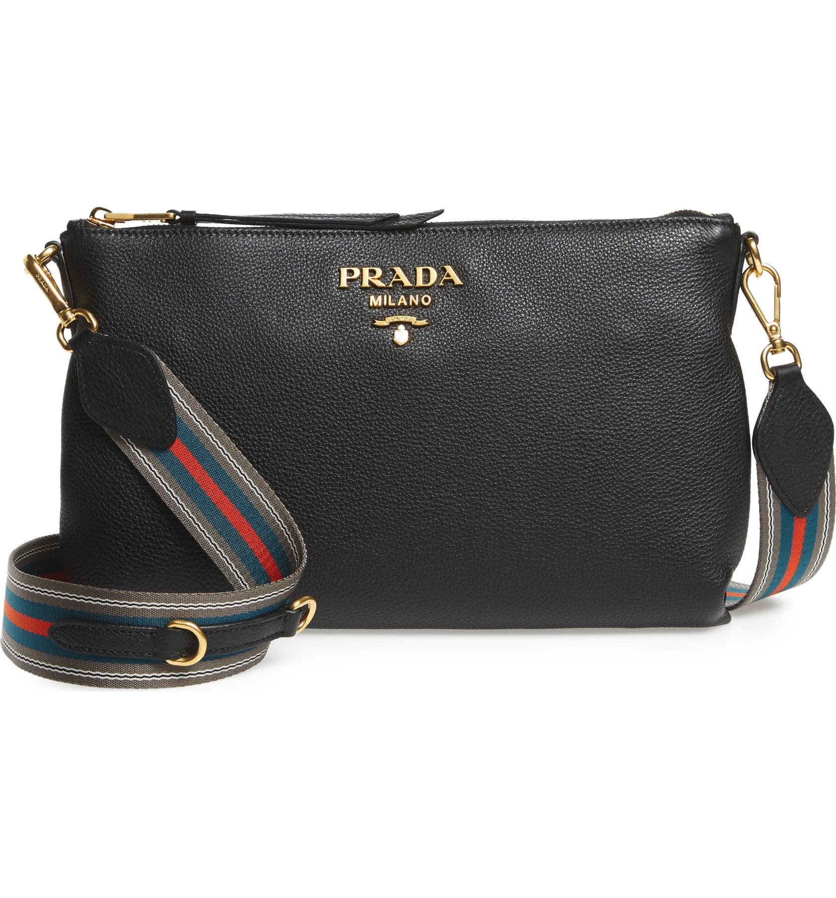 045468742b5 Prada Vitello Daino Leather Crossbody Bag   Nordstrom