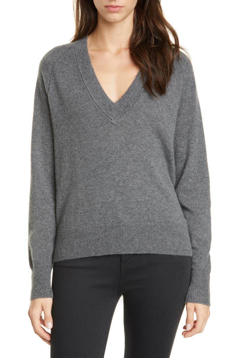 EQUIPMENT Madalene Cashmere Sweater, Main, color, HEATHER GREY
