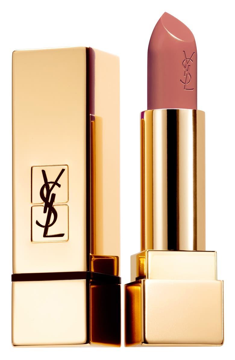 YVES SAINT LAURENT Rouge Pur Couture Satin Lipstick, Main, color, 85 NU FATAL