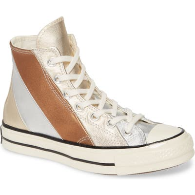 Converse Chuck Taylor All Star Chuck 70 Metallic Rainbow High Top Sneaker- Metallic
