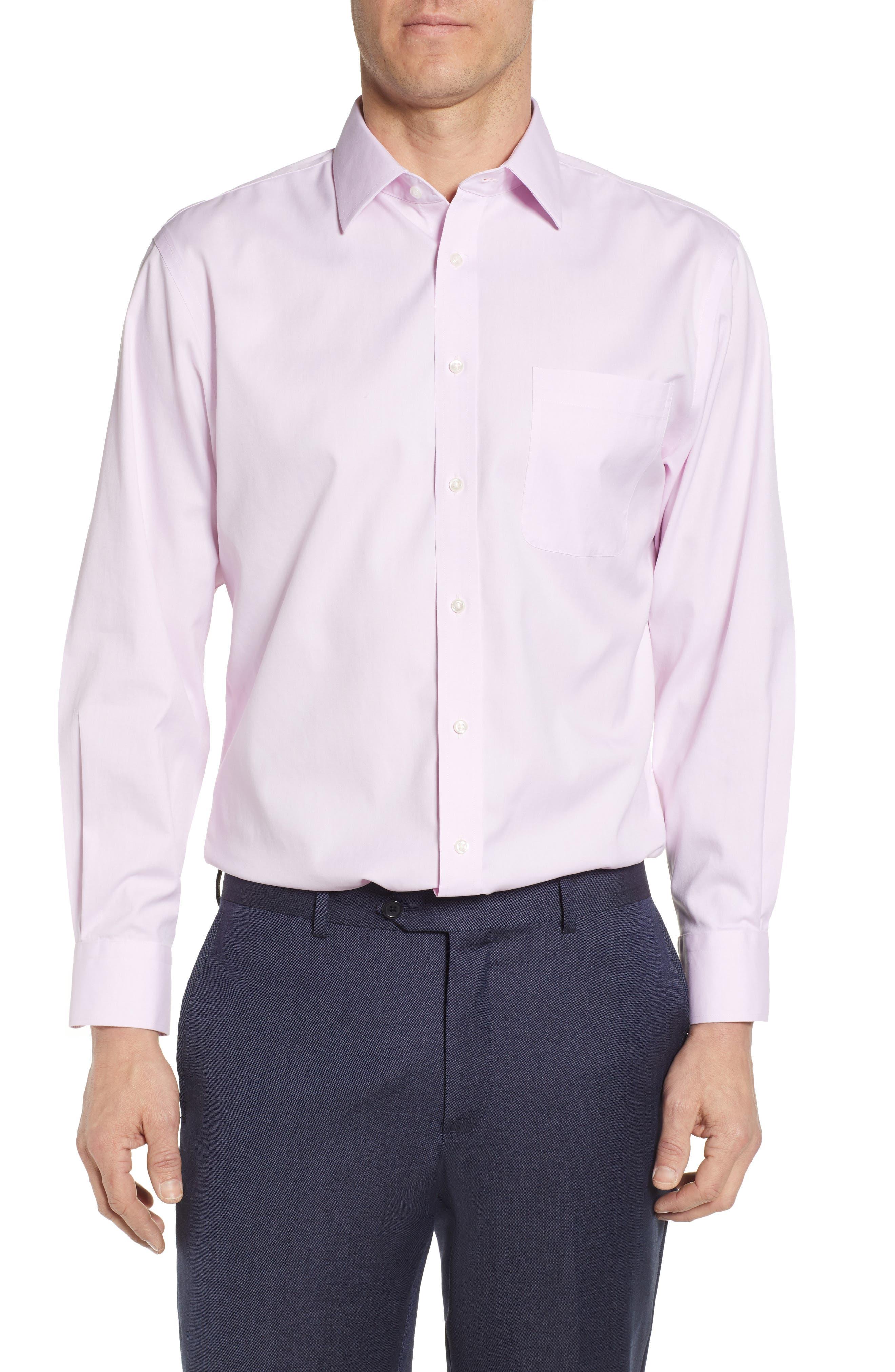 Nordstrom Shop Smartcare(TM) Traditional Fit Dress Shirt, Pink