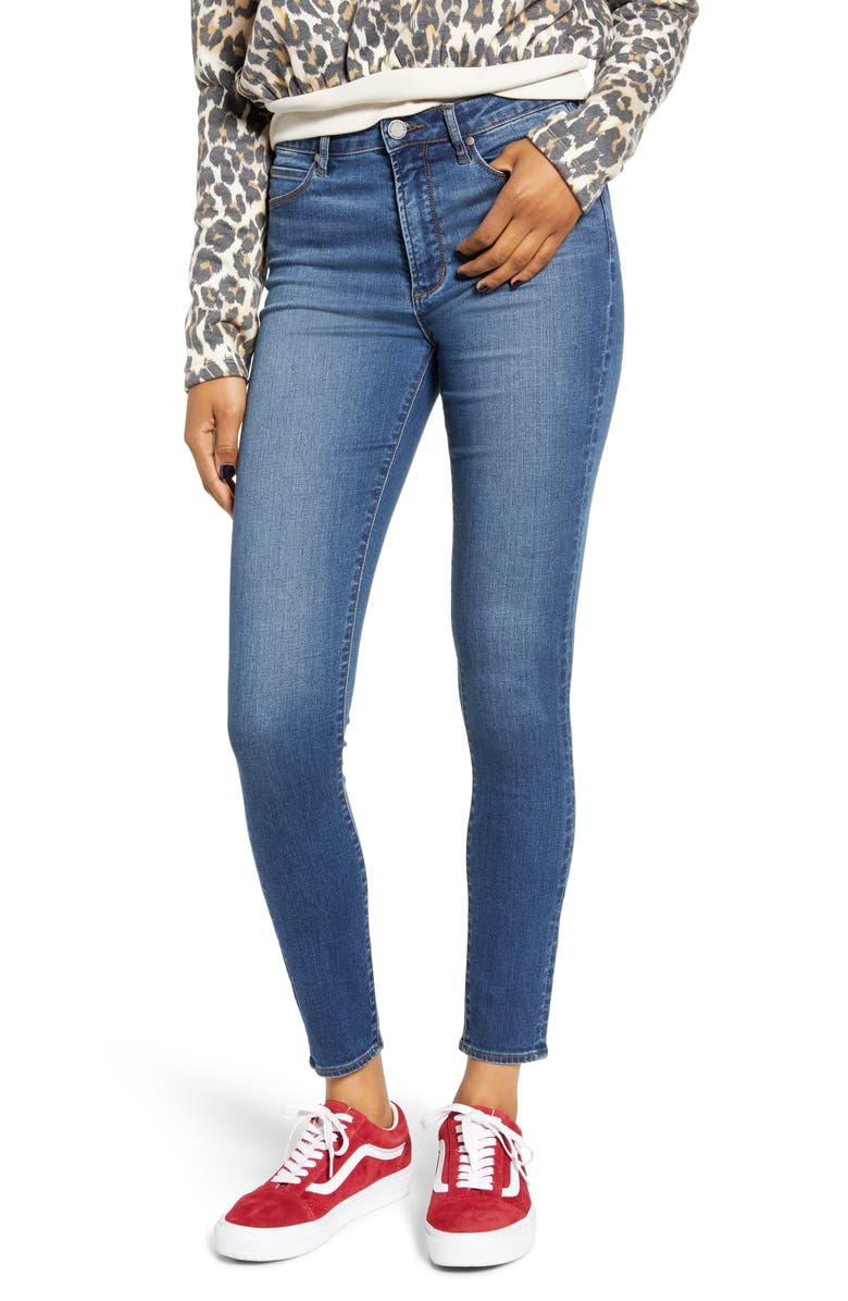 ARTICLES OF SOCIETY Hillary High Waist Ankle Jeggings, Main, color, BEVERLY HILLS