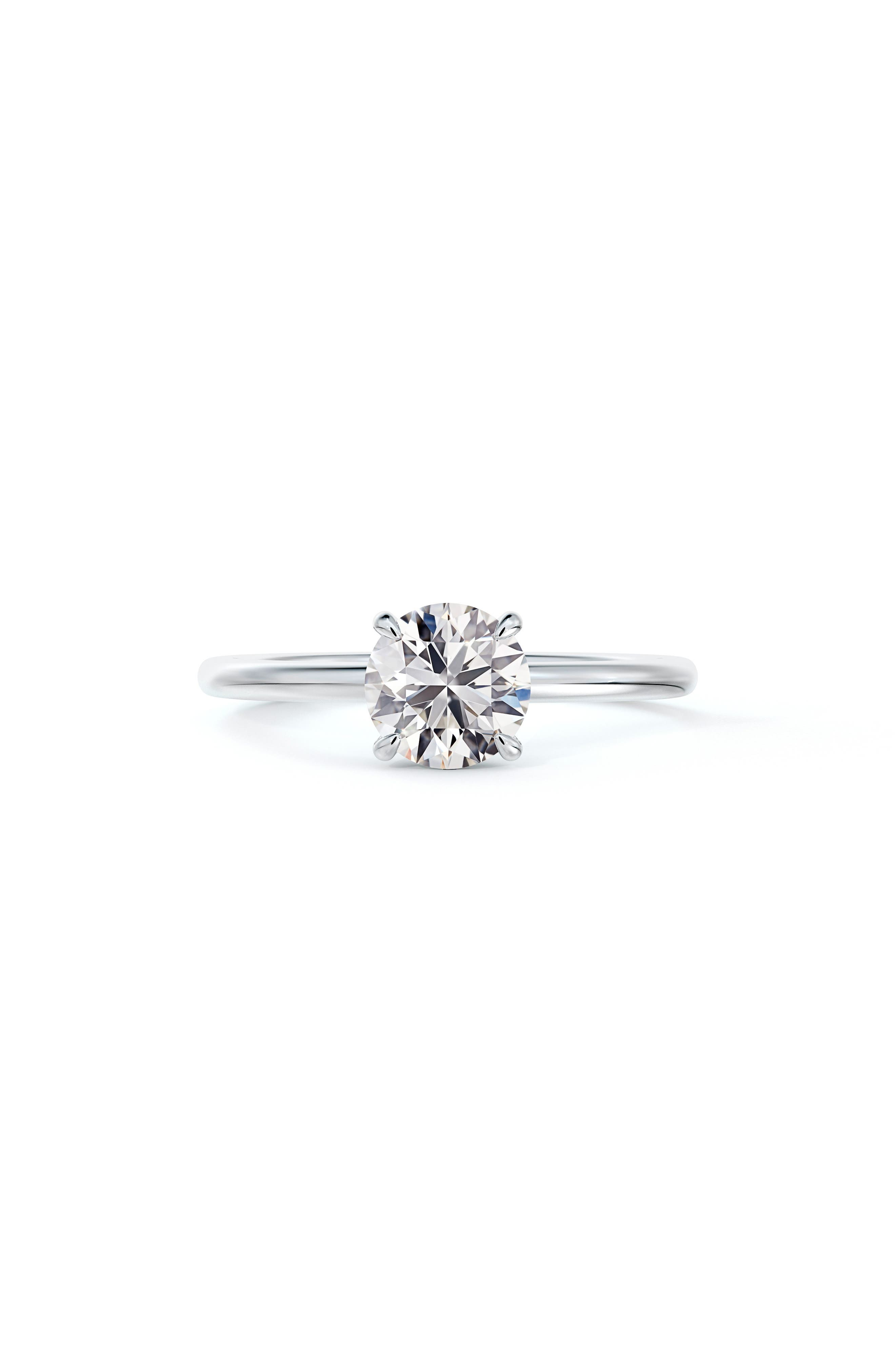 X Micaela Simply Solitaire Round Diamond Engagement Ring
