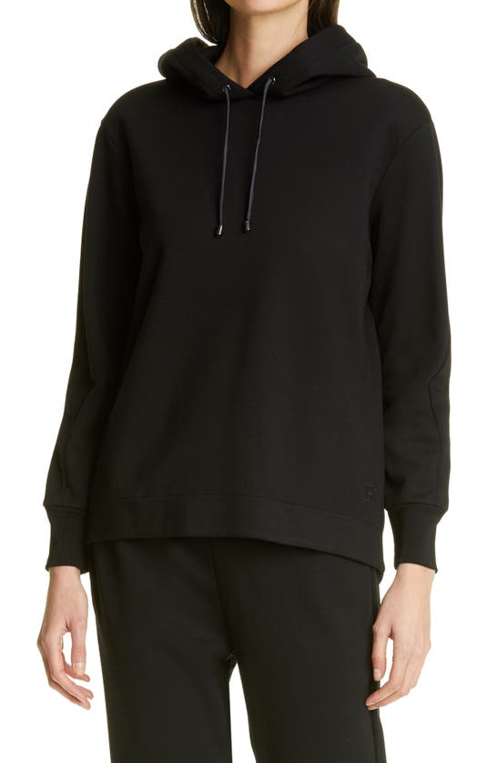 Ted Baker Salara Satin Drawstring Hoodie In Black