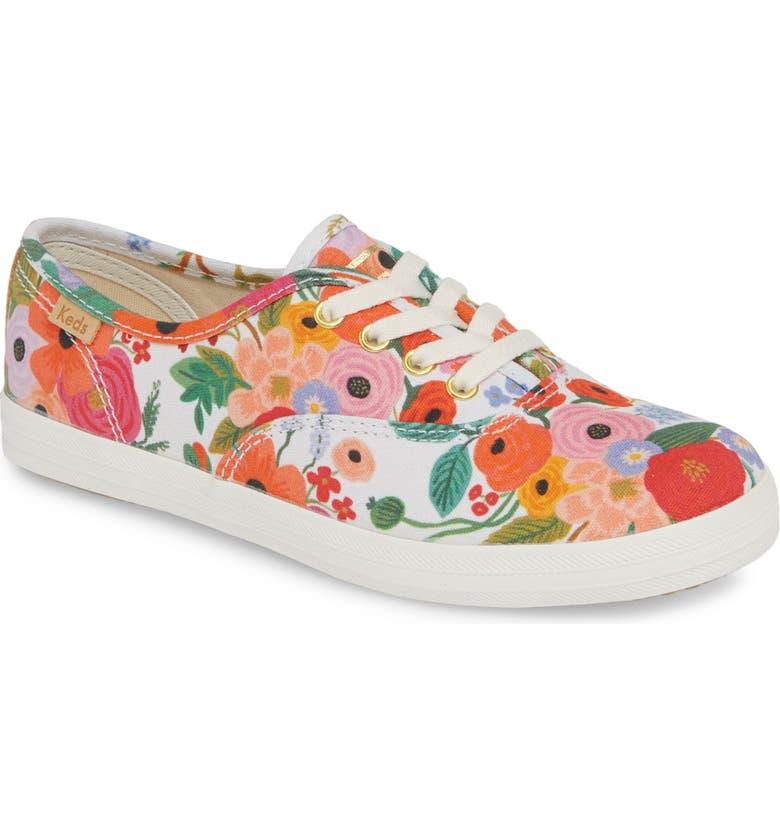 KEDS<SUP>®</SUP> x Rifle Paper Co. Floral Print Champion Sneaker, Main, color, 653