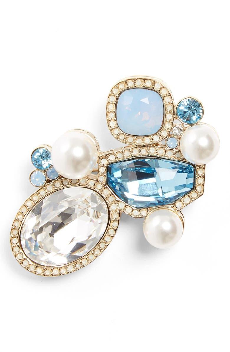 St  John Collection Swarovski Crystal & Glass Pearl Brooch | Nordstrom