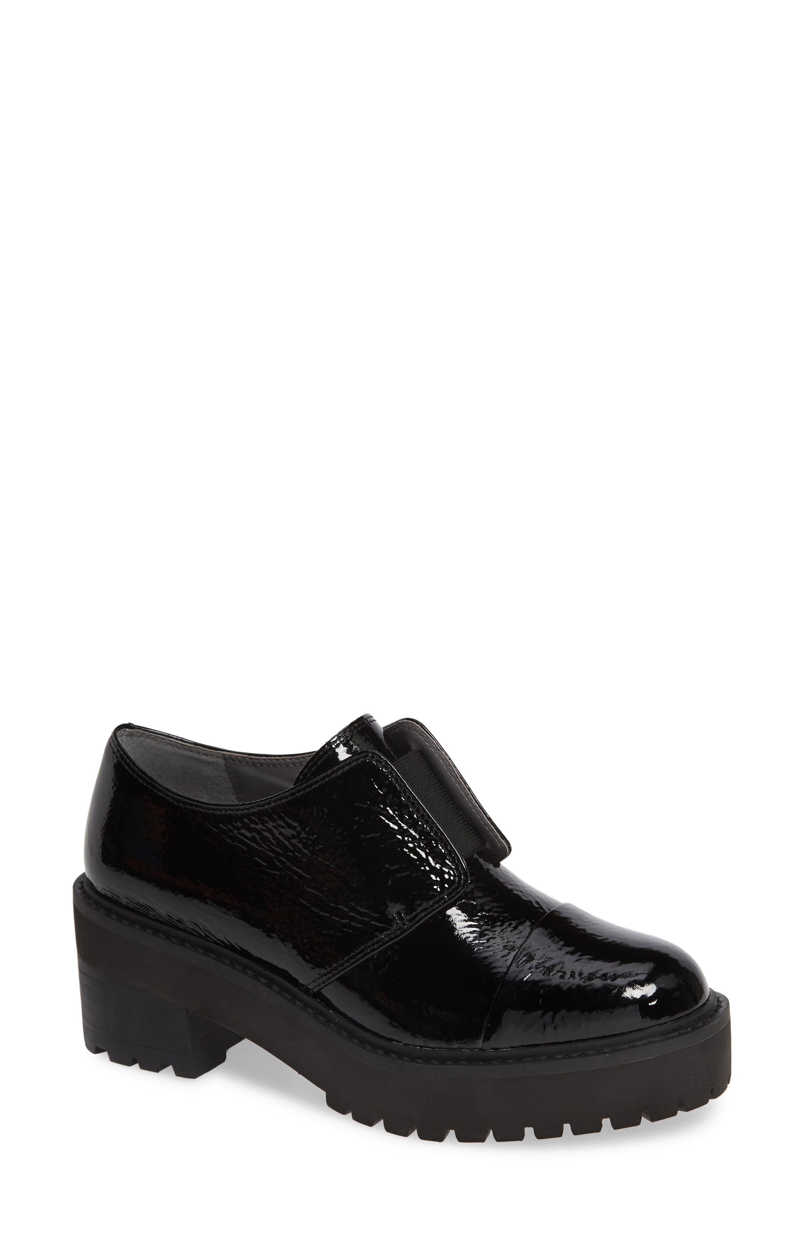 Maddie Cap Toe Oxford, Main, color, BLACK WRINKLE PATENT