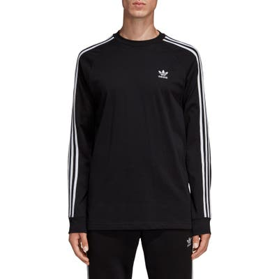 Adidas Originals 3-Stripes Long Sleeve T-Shirt, Black