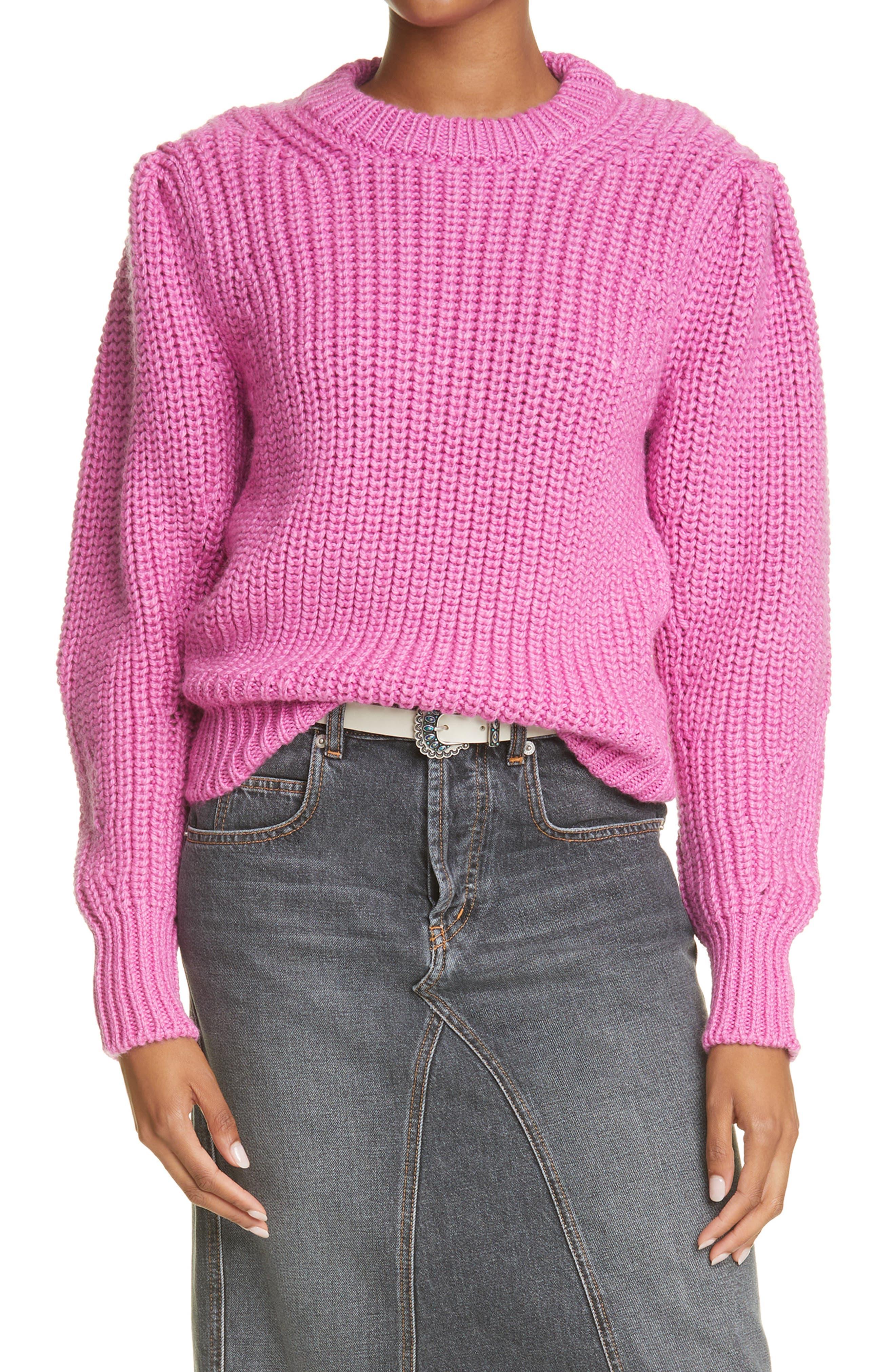 Women's Isabel Marant Etoile Pleane Wool Blend Crewneck Sweater
