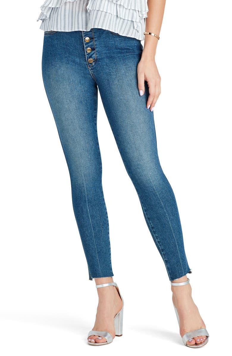 SAM EDELMAN The Stiletto Raw Hem High Waist Ankle Skinny Jeans, Main, color, JULI