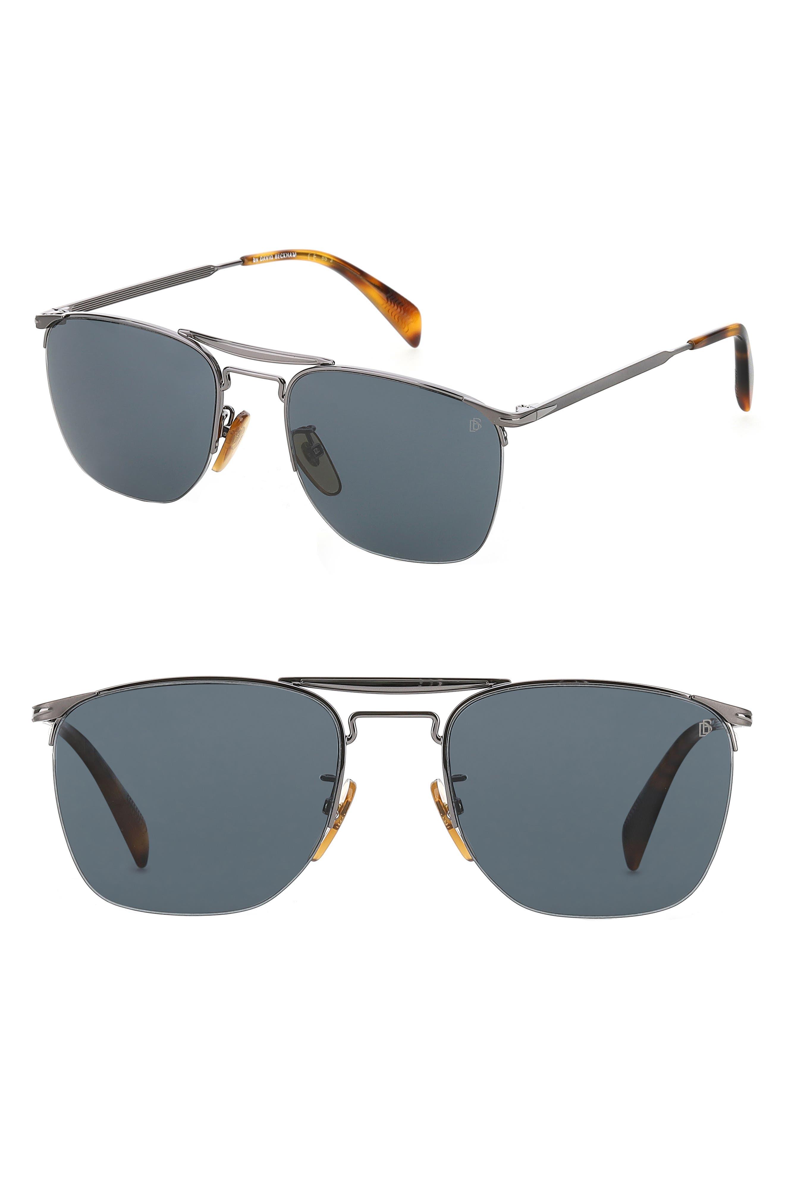 Men's Eyewear By David Beckham Db 1001/s 56mm Aviator Sunglasses