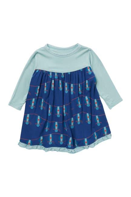 Image of KicKee Pants Patterned Long Sleeve Dress