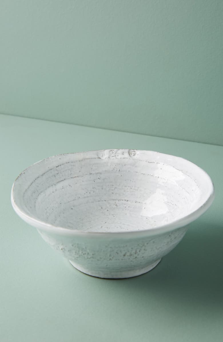 ANTHROPOLOGIE Glenna Earthenware Cereal Bowl, Main, color, WHITE