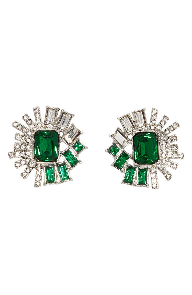 VINCE CAMUTO Large Crystal Stud Earrings, Main, color, 040