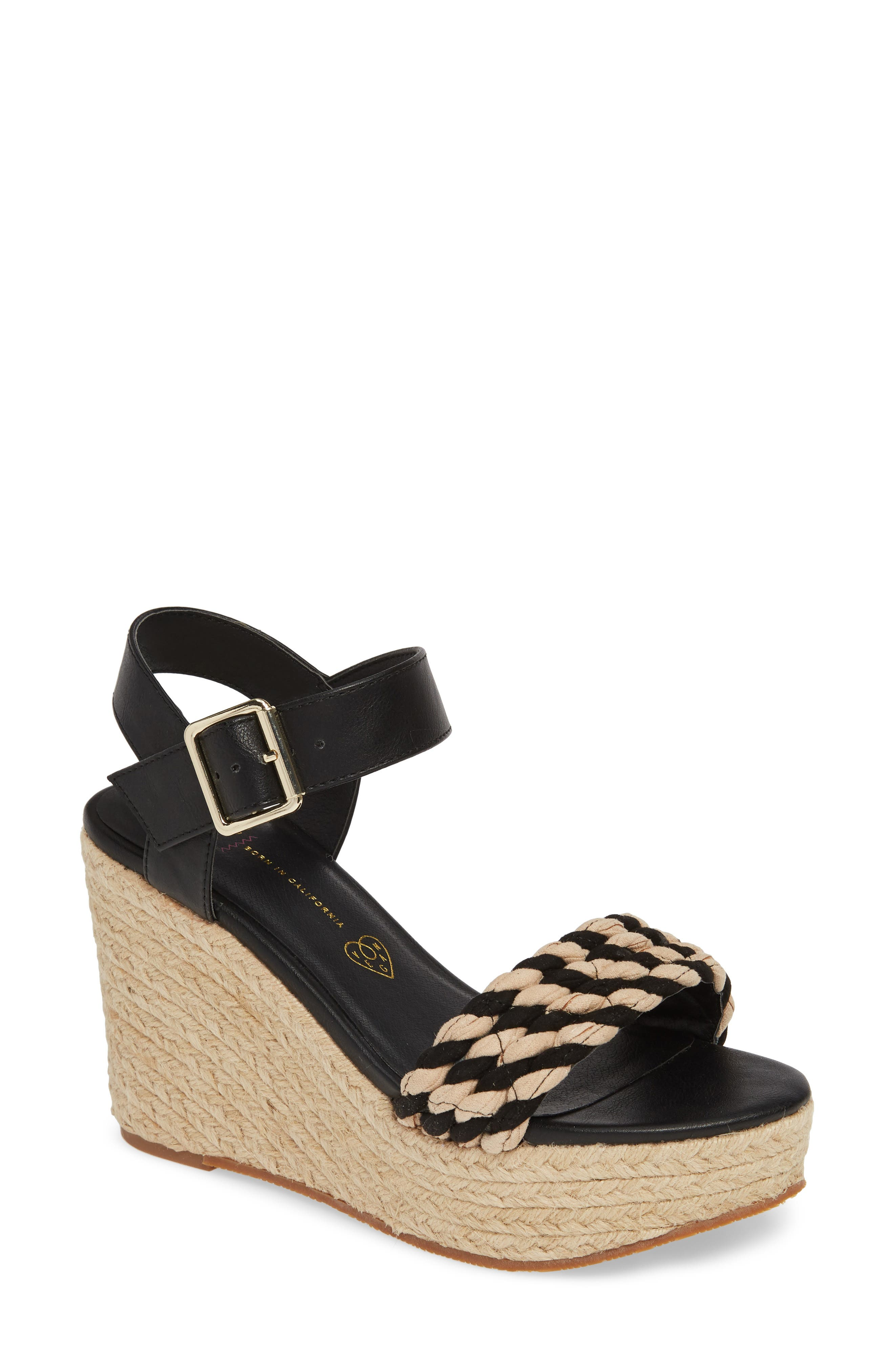 0ca193ce99f3 Bc Footwear Dew Drops Vegan Espadrille Wedge Sandal- Black