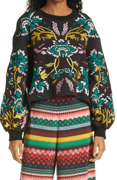 Alice And Olivia GAIA BLOUSON SLEEVE SWEATSHIRT