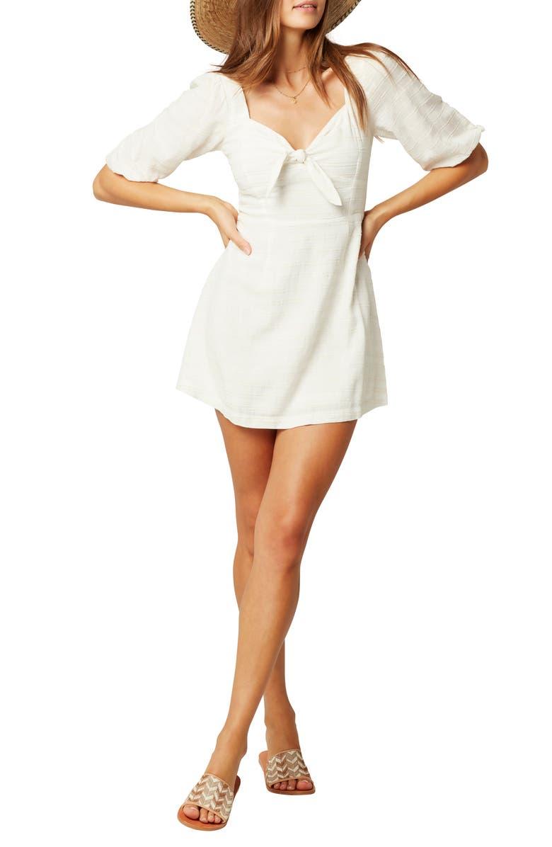 L SPACE Savannah Cover-Up Minidress, Main, color, CREAM