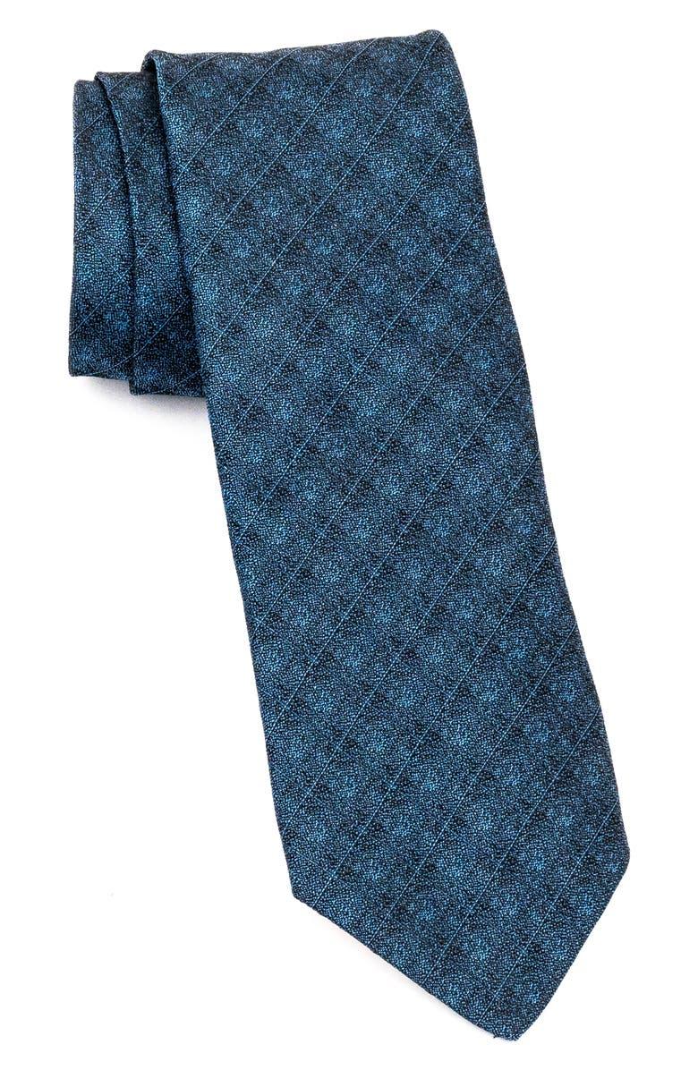 JOHN VARVATOS STAR USA Stripe Silk Tie, Main, color, INDIGO