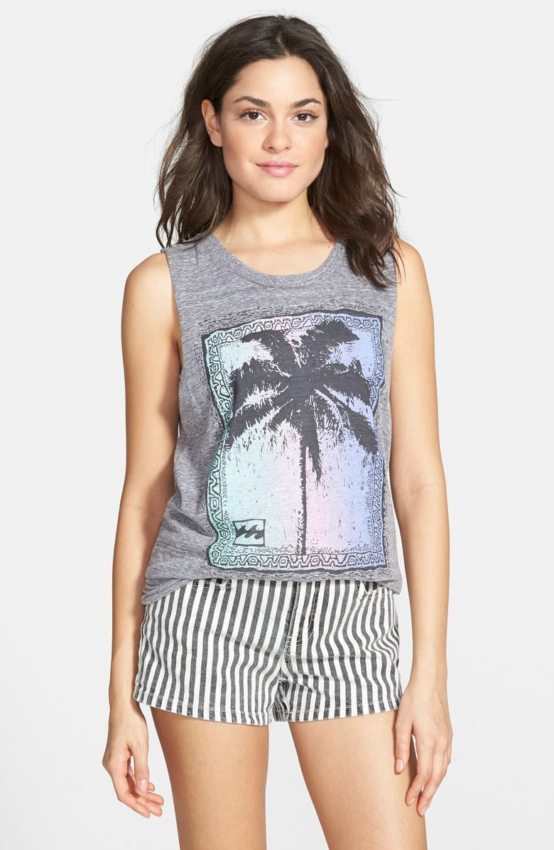 BILLABONG 'Palm Poster' Graphic Muscle Tee, Main, color, 020