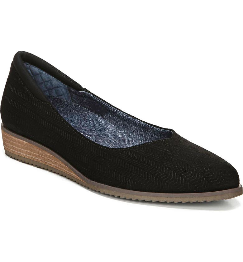 DR. SCHOLL'S Dr. Scholls Kendall Wedge, Main, color, BLACK FABRIC