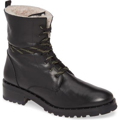 Freda Salvador Genuine Shearling Lined Hiker Boot- Black