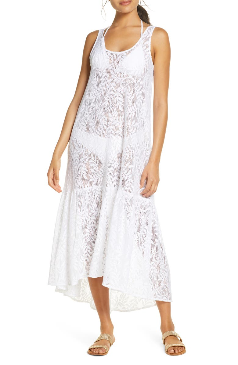 LILLY PULITZER<SUP>®</SUP> Camellia Cover-Up Lace Maxi Dress, Main, color, 115