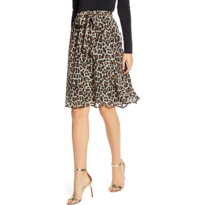 Petite Gibson X Hi Sugarplum! Holiday Coco Bow Detail Holiday Skirt, Black