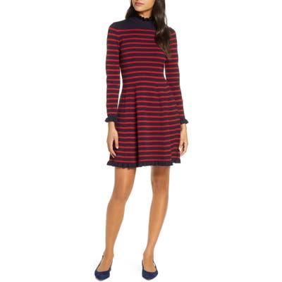 Petite 1901 Striped Sweater Sweater Dress, Blue