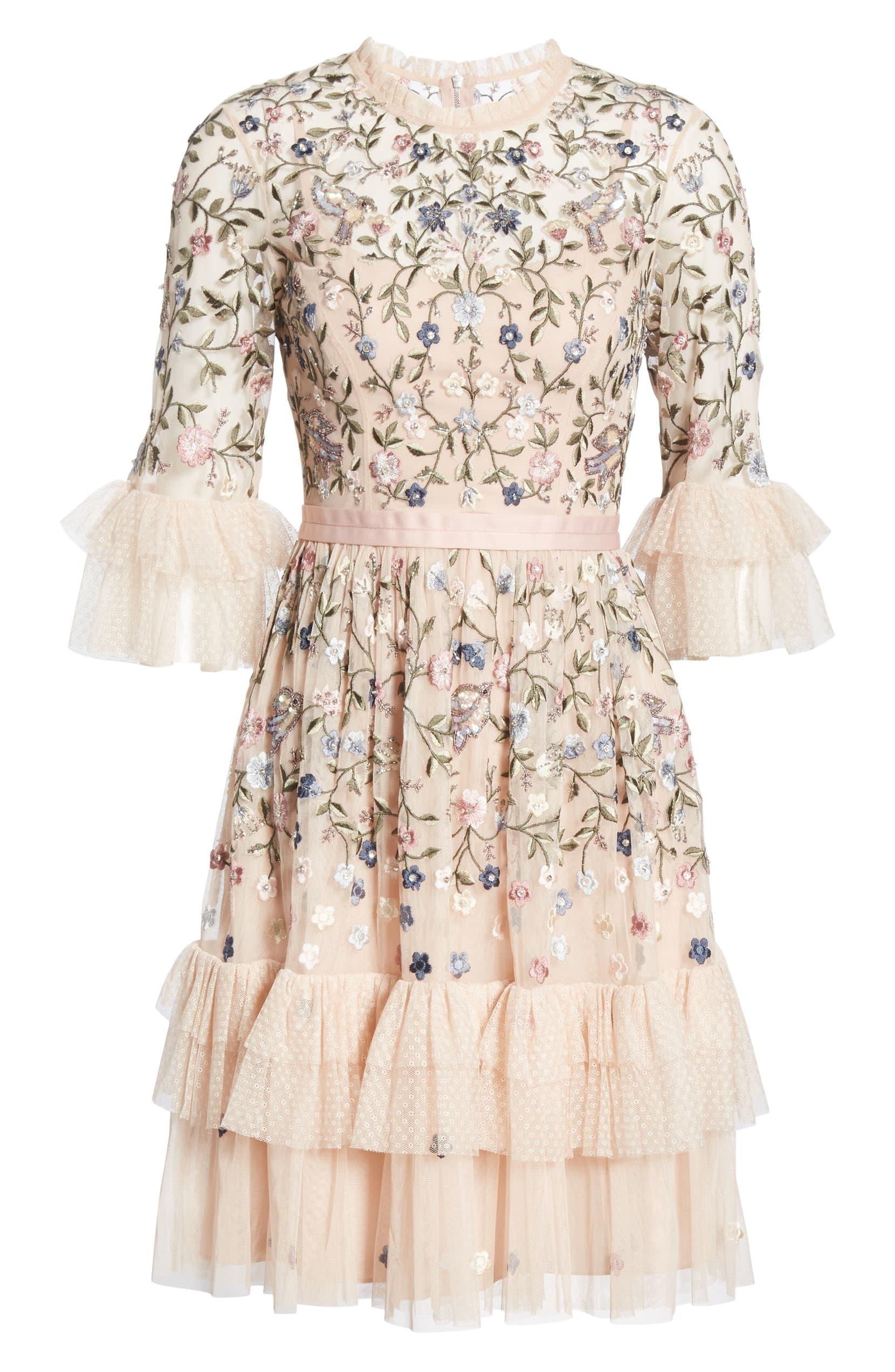 30d84e26c390 Needle & Thread Dusk Floral A-Line Dress | Nordstrom