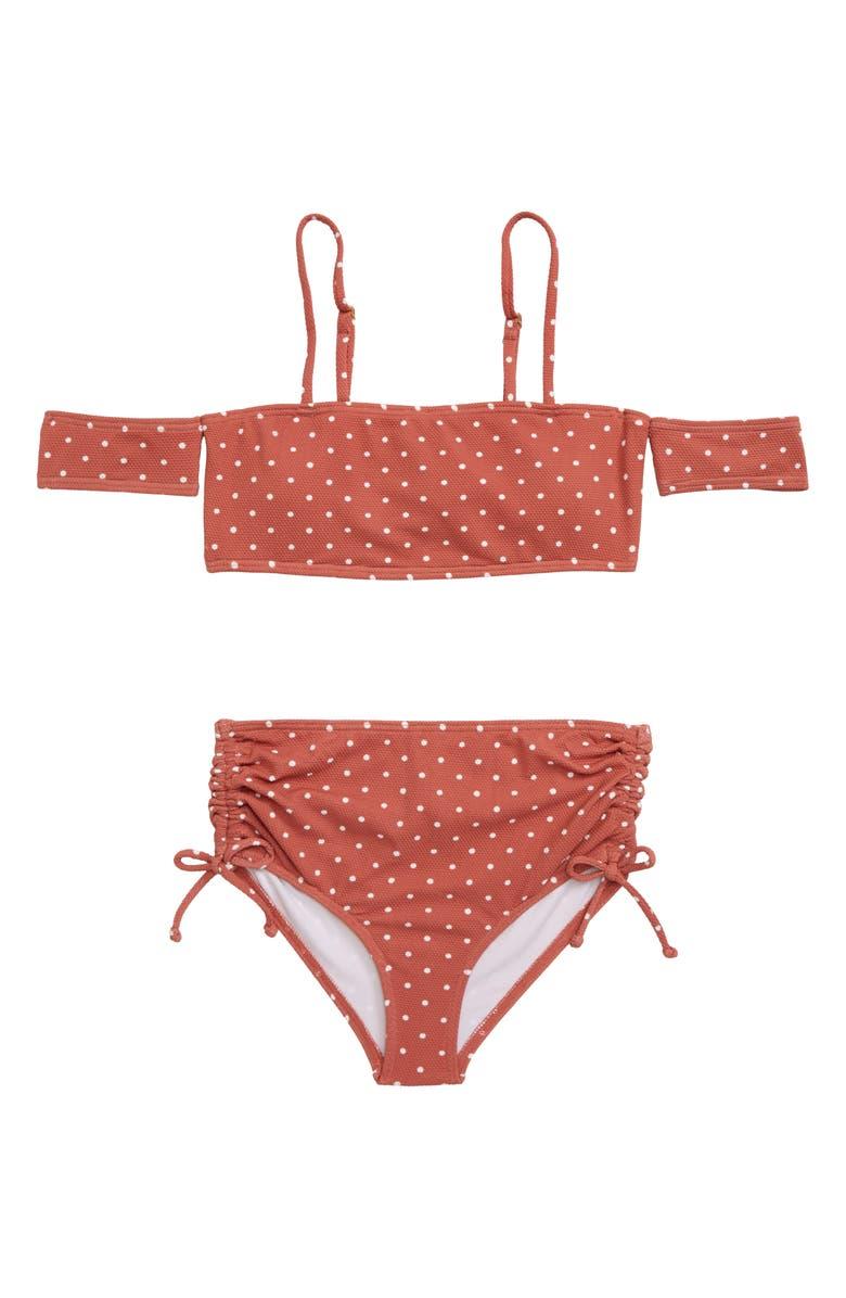 BILLABONG Dot Daze Two-Piece Swimsuit, Main, color, COCO BLISS