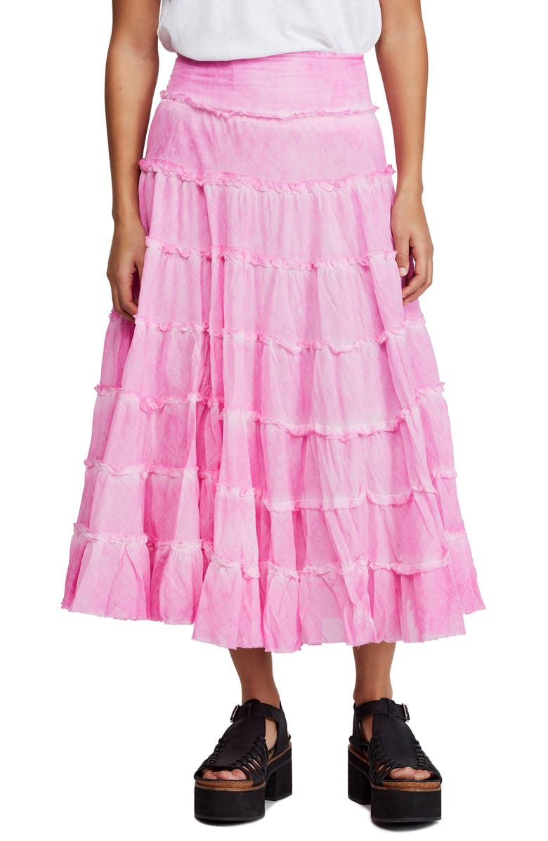 FREE PEOPLE Stuck in a Moment Maxi Skirt, Main, color, PINK