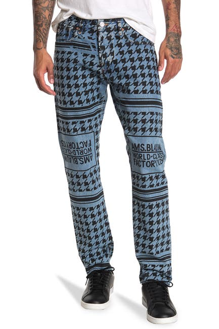 Image of Scotch & Soda Ralston Cropped Graphic Print Jeans