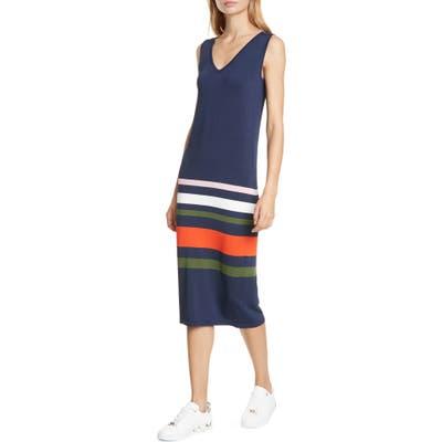 Ted Baker London Marpee Stripe Sleeveless Knit Dress, Blue
